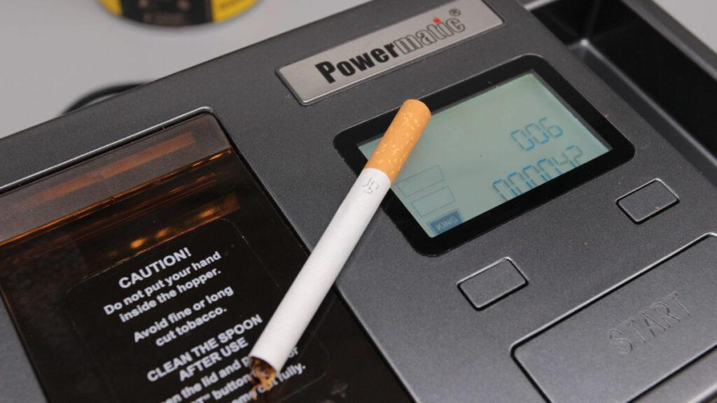Perfekte zigarette Closeup